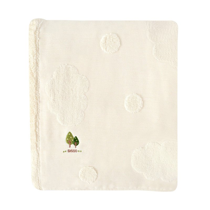[SISSO organic cotton] gauze silk flower soft towel