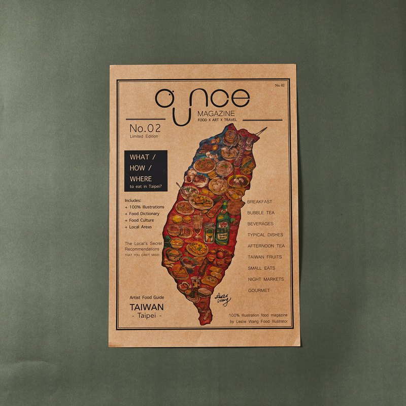 OUNCE Food Map Poster-Taiwan