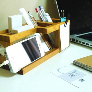 【TAB】 stationery storage frame / office equipment / pen holder / wood mobile phone rack / wood mobile phone holder / whole line / magnet / text Chong / solid wood / wedding small objects