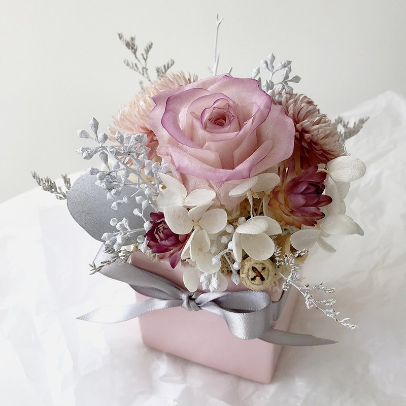 (Spot) Chiffon does not wither the rose small table flowers – dry flowers, no flowers, table flowers, Valentine's Day