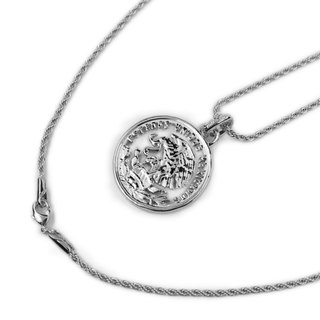 Mexico Coin Necklac Mexican eagle coin necklace (white gold)