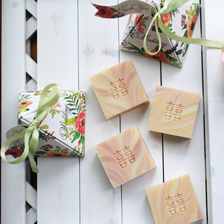 [Lei An Bai handmade soap] colorful garden. Small wedding 10 into the group │ probe room ceremony │ second approach 囍 囍 word soap │ bath soap │ add essential oils