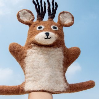 Office Healing Thick Cotton Wool Felt Animal / Wool Felt Child Doll / Wool Felt Doll - Elk