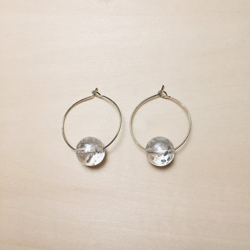 Transparent silver breathable inkjet ear ring