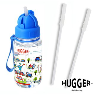 HUGGER Children's Straw Kettle Dudu Train Tritan Non-toxic Safety Material with Replacement Straw