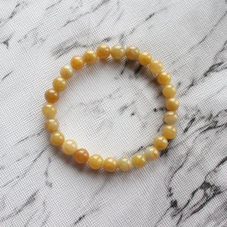 Journal-Orange Pure Natural Ice Fruit Yellow Jade (Burma Jade) Fine Beads Bracelet Exclusive