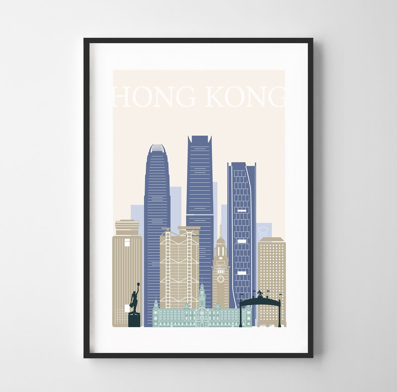 Hong Kong print Hong Kong Customizable Posters