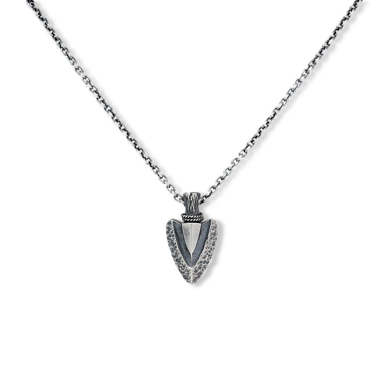Handmade silver 925 sterling silver arrow necklace (small)