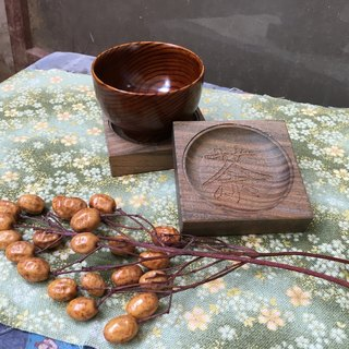 Wood for green sandalwood coasters - tea word models