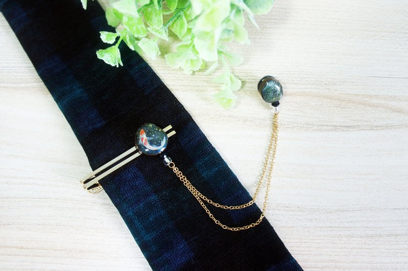Hand painted tie clip & suit brooch (hand painted tie clip & suit brooch)
