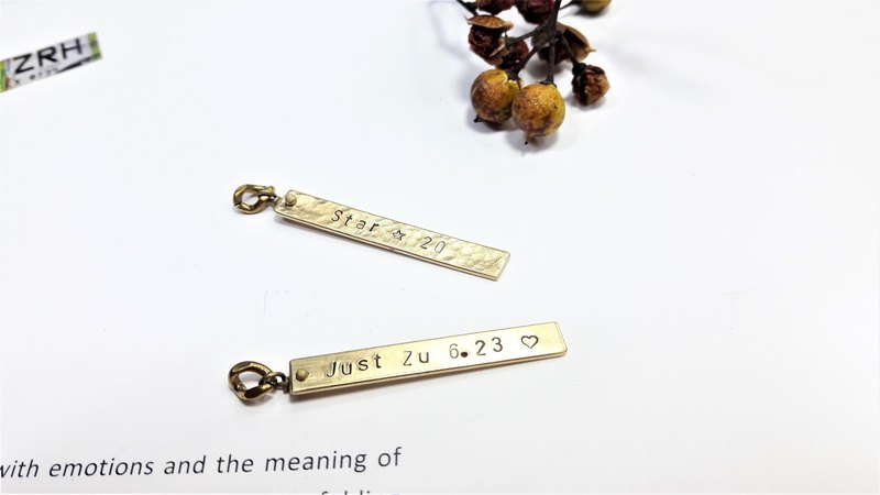 "**Passenger lettering brass longs II (case in English, numbers, love, stars symbol) ""Valentine's Day / Christmas gift"" 【Customized】"