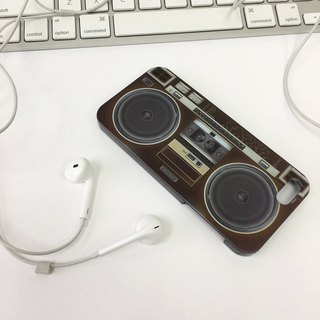 Ultra Sound Boombox Deep Brown Print Soft / Hard Case for iPhone X,  iPhone 8,  iPhone 8 Plus,  iPhone 7 case, iPhone 7 Plus case, iPhone 6/6S, iPhone 6/6S Plus, Samsung Galaxy Note 7 case, Note 5 case, S7 Edge case, S7 case