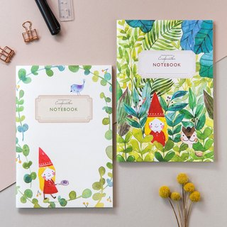 Garden Wizard - Light and white notebook (2 into the group)