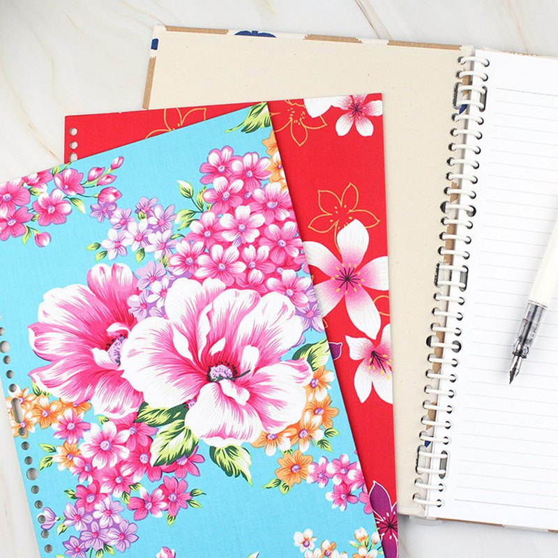 A4/13K 27 hole flower cloth cover set / DIY loose-leaf note / loose-leaf flower cover board