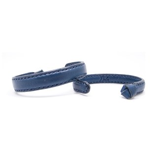 Leather Bangle / Couple Bangle / Navy / Leather / Accessories / Bracelet
