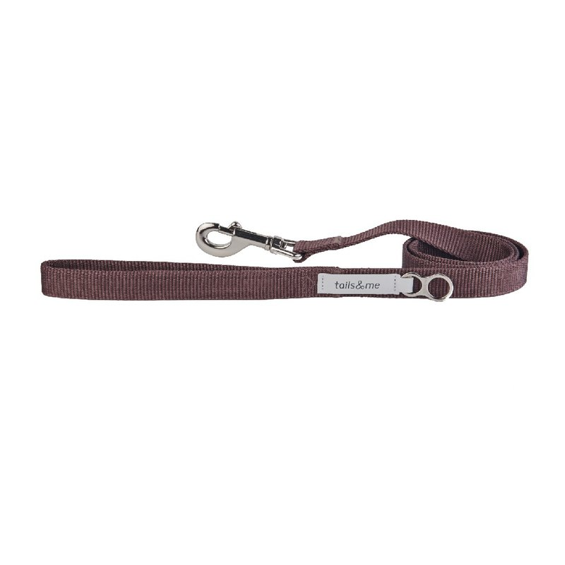[Tail and me] classic nylon belt leash red brown