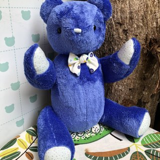 Handmade teddy bear cool blue 50cm spot only one left