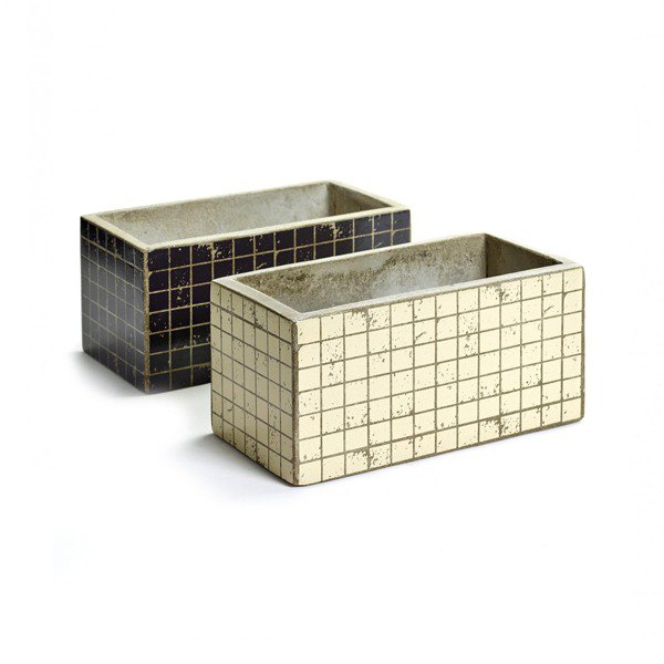 【Belgian SERAX】 Mosaic classical cement long basin - dark blue / m