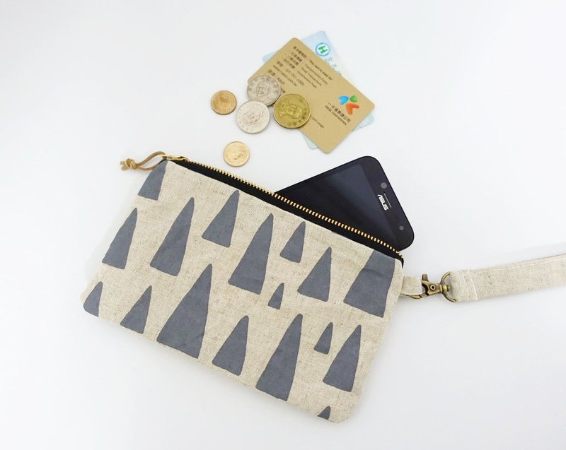 Screen printing clutch bag forest gray