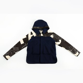 Hooded Shirt Jacket - Navy