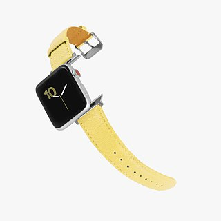 Multicolor Genuine Leather Goatskin Series Macaron Dream Yellow Apple Watch Apple Watch Strap