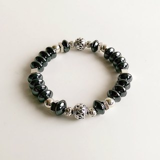 [Gemstone] Hand made natural ore Black stone Future civilization • Bracelet