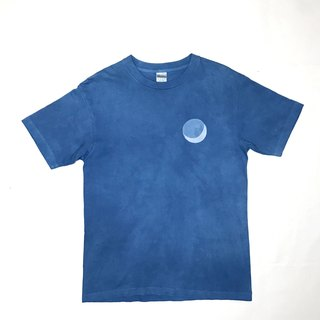 【Order Production】 Indigo dyed Aizen - BLUE MOON TEE