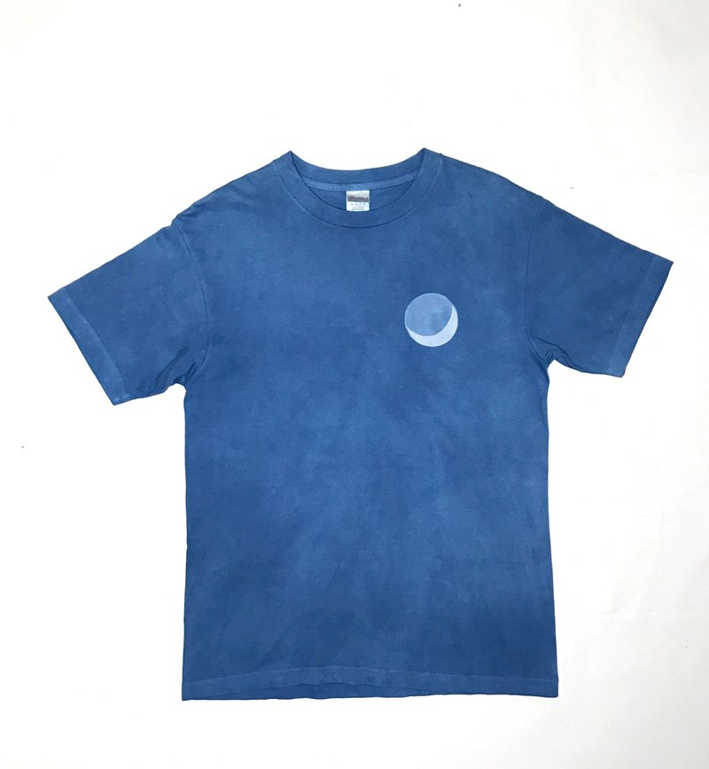 【受注製作】BLUE MOON TEE Indigo dyed 藍染