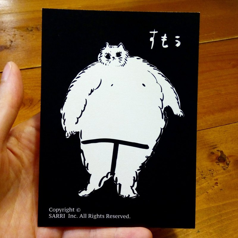 Sumo (can create A3 size posters) Birthday Card Design Coloring Illustrator Picture Card Universal Card Art Love Special Funny Strange Character Strange Cute Taiwan Playable