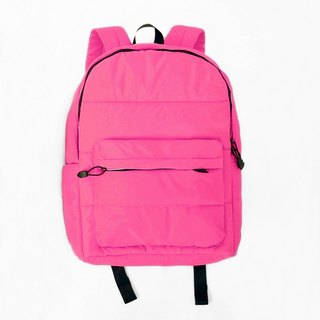 Backpack (large). Black pink ╳