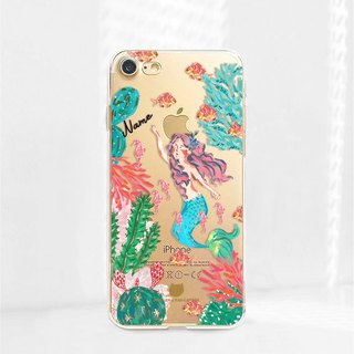 Mermaid Custom name  iPhone 6 7 8 plus x Android