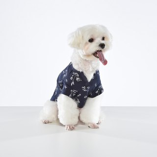 Small V-neck shape floral pet clothes