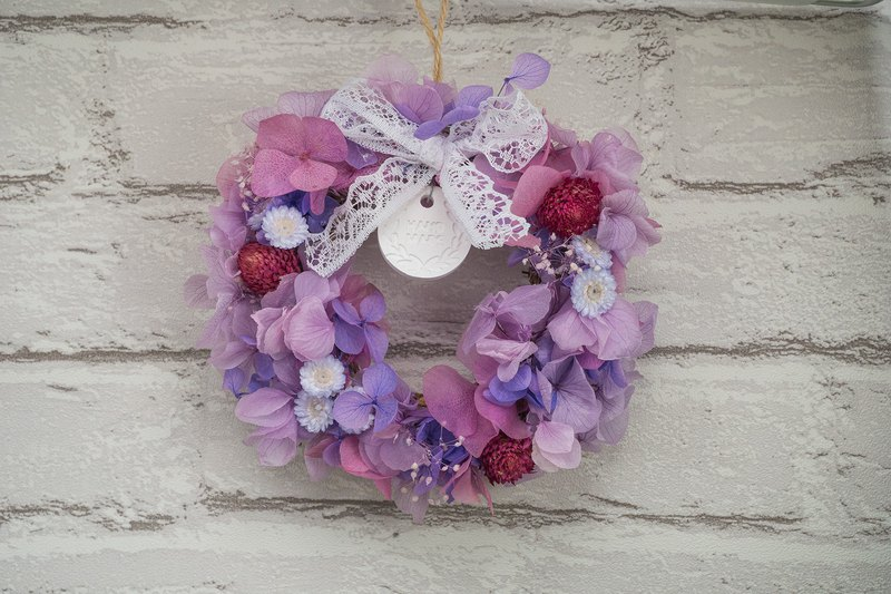 Preserved flower wreath/Mini wreath/Home decor/Dried flower/Floral arrangement