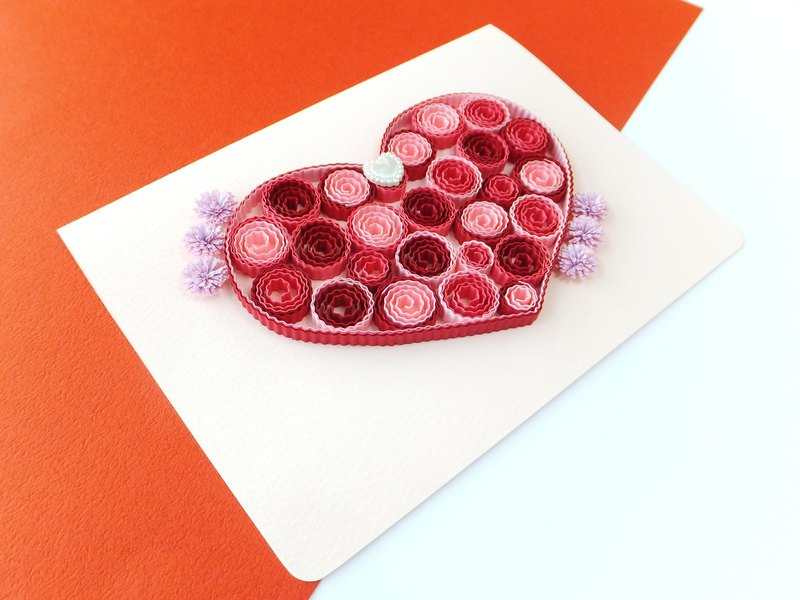 Hand made decorative cards-Romantic love