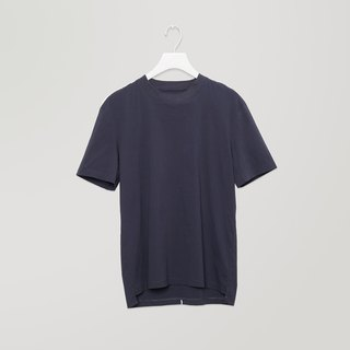Raised-neck Mix T-Shirt
