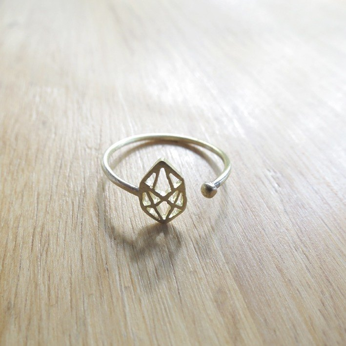 WABY Geometric diamond Mariquse ring