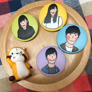 Customized portrait 32mm badge