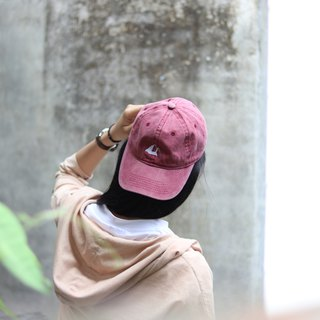 Iceberg in summer | Burgundy | Embroidered | Washed cap | Hat