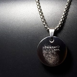 Q3 models - hand mold engraving - titanium steel necklace, key ring