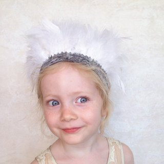 White Angel Feather Crown