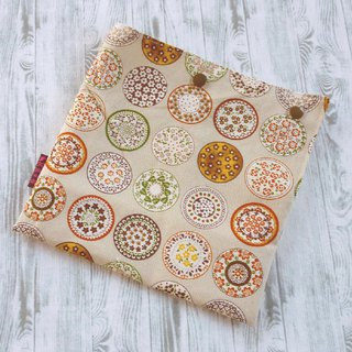 Milk tea color porcelain flower double press buckle food bag