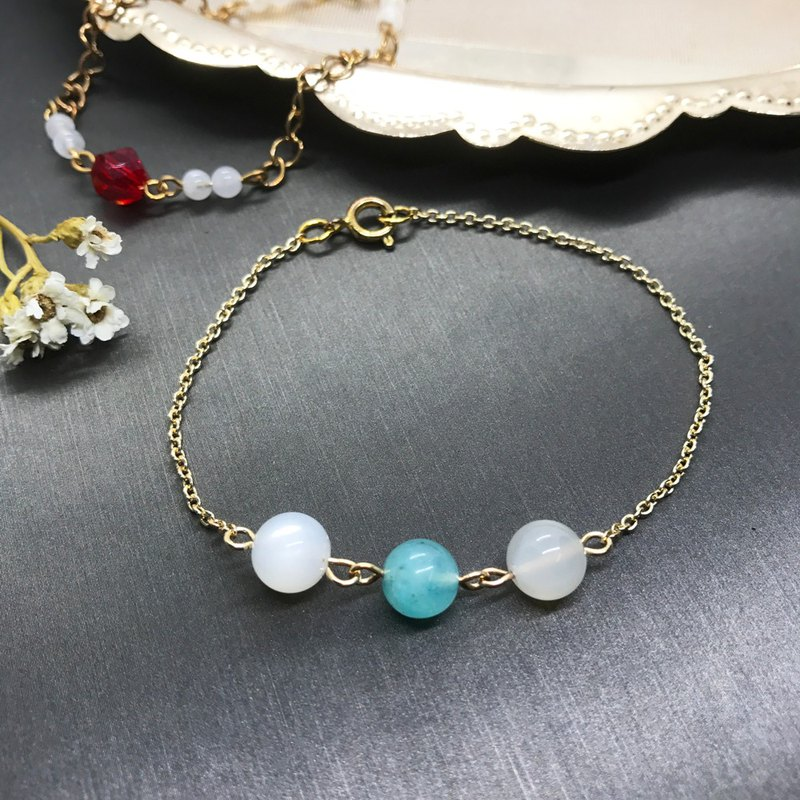 Tianhe white moonlight thin chain temperament bracelet
