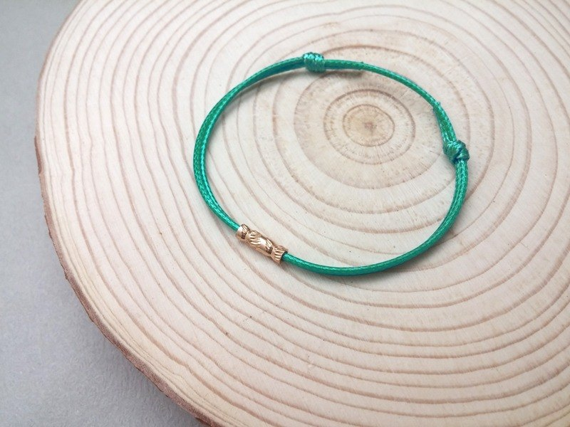 Wax line bracelet carved copper tube plain simple wax rope thin line