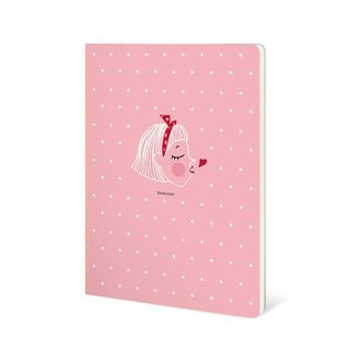 Dorothy 50 open color car suture Notebook - Pink little (9AAAU0029)