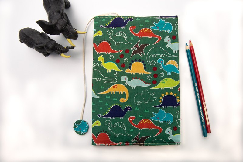 (Dinosaur Kingdom) cloth book cover A5 / book clothing / adjustable book / book cover