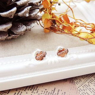 §HUKUROU§ small cloud after pearl earrings (rose gold)