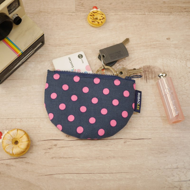 Smile Coin Purse ::: Pink Dots