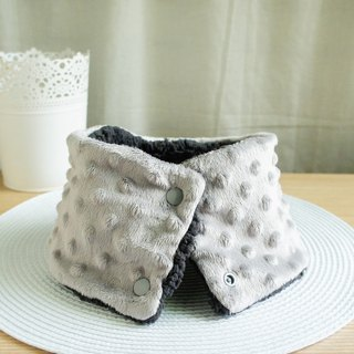 Lovely [Korean cloth] double-sided bean bean cashmere children's fur collar, collar, short scarf, gray and black