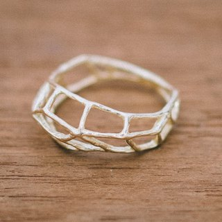 18k - fine lines - contemporary ring - solid gold - Japanese - gift for her