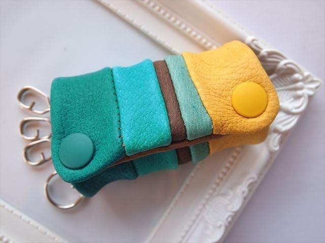 Luxury pig leather soft key case [hand-dyed leather] 1539001